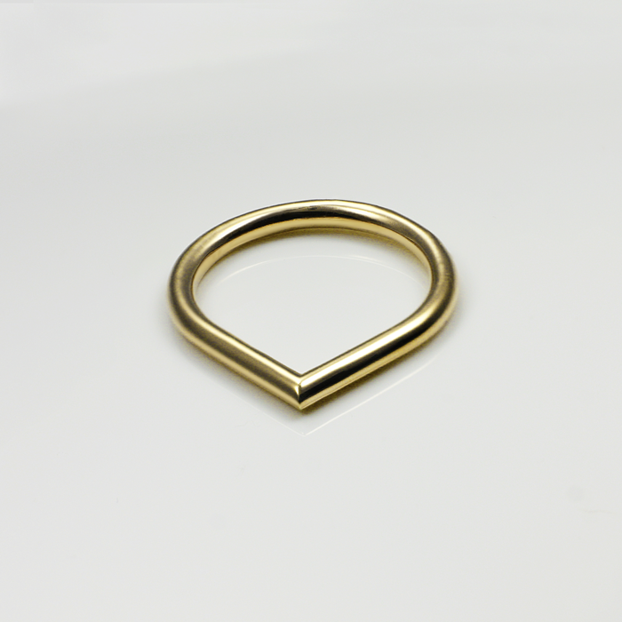 671369dd3 O Gold Ring   Luxe gold layering rings   Osylia Jewellery – The ...