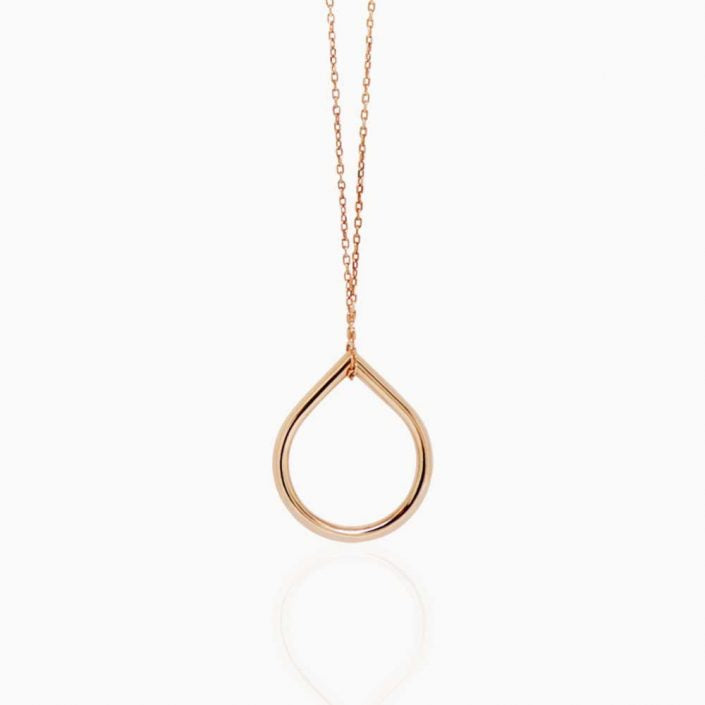 Rose Gold O Pendant Necklace