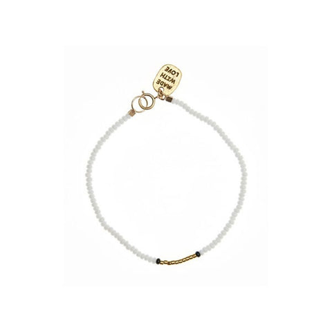 Endito White & Gold Beaded Bracelet