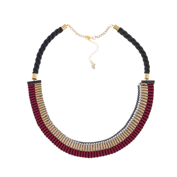 Jennifer Loiselle Metallic Claret necklace - available at collectiveboutique.co.uk