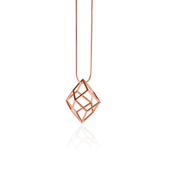 Tetra Rose Gold Satin Necklace by Osylia - available at collectiveboutique.co.uk