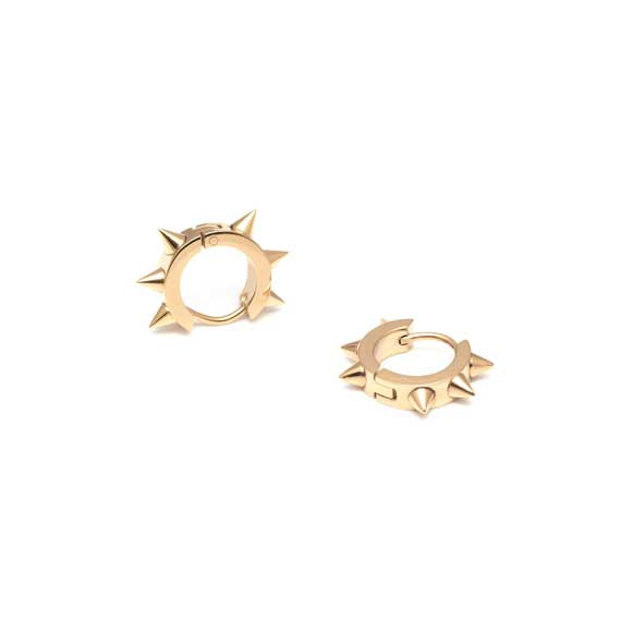 MFP Gold Spike statement earrings