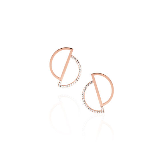 Circle Rose Gold Swarovski Earrings by Osylia Jewellery - available at collectiveboutique.co.uk