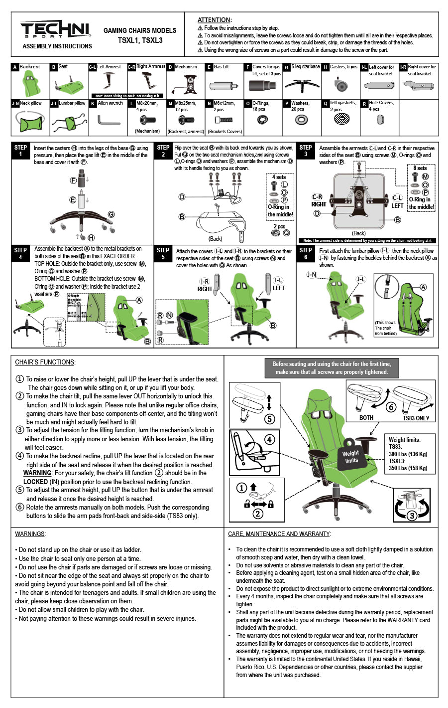 Picture of: Assembly Instructions Techni Sport