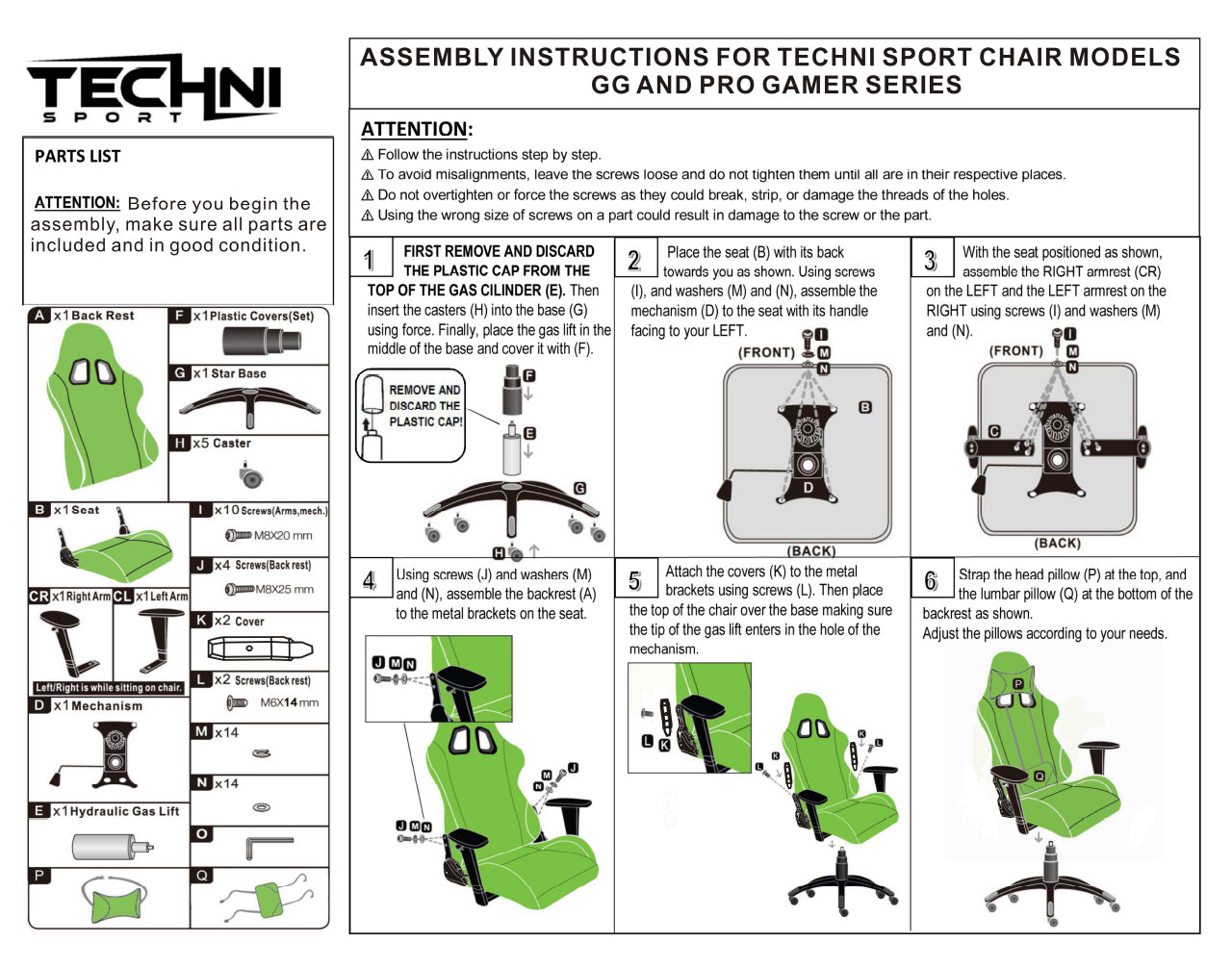 Picture of: Elecwish Gaming Chair Instructions