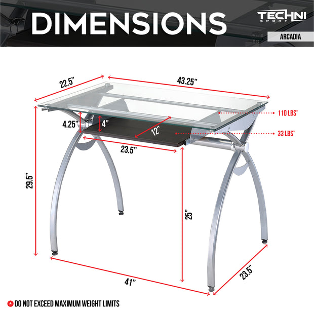Techni Sport Gaming Desk - Arcadia