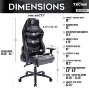 TS61 COMFORT PLUS Grey Gaming Chair