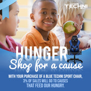 All sales from our Blue Gaming Chair sales feed the hungry in the US