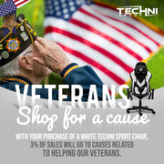 3% of all white gaming chairs sales  are donated to our veterans
