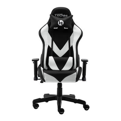 Front image of TS92 White Gaming Chair