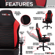 TS XLL Gaming Chair features