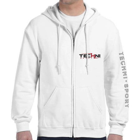 GameON Techni Zip-Up Unisex Hoodie - White