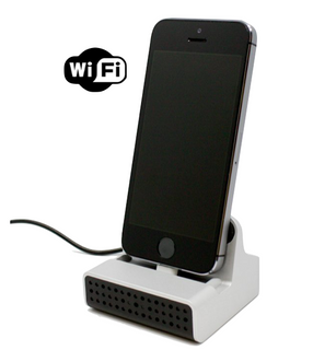 iPhone Charging Dock Hidden Camera