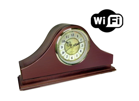 Mantel clock hidden camera
