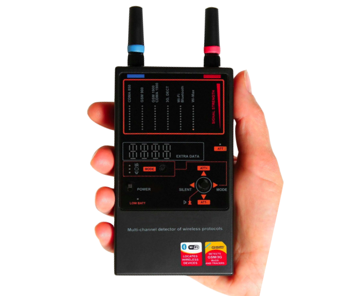 Multi-channel RF bug detector