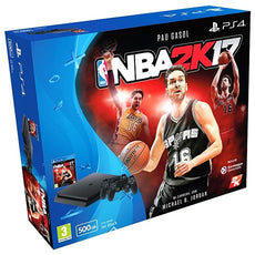 Play Station 4 Slim + 2 Controllers + NBA 2K17 Sony 500 GB (3 pcs)