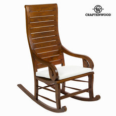 Teak rocking chair with cushion by Craftenwood