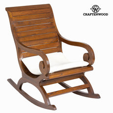 Walnut rocking chair with cushion by Craftenwood
