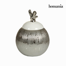 Silver box with white lid by Homania