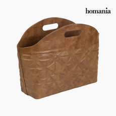 Magazine rack engraved brown by Homania