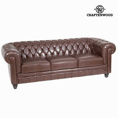 3-seat brown sofa by Craftenwood
