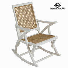 White rocking chair by Craftenwood