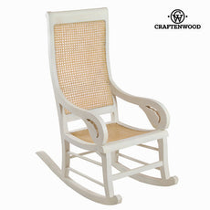 White teak rocking chair by Craftenwood