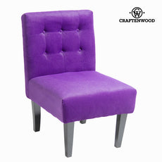 Purple polyester armchair - Relax Retro Collection by Craftenwood