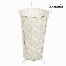 White metal umbrella stand by Homania