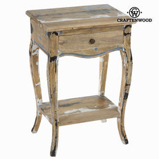 1 drawer table stripped wood - Poetic Collection by Craftenwood