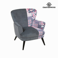 Patchwork/grey armchair by Craftenwood