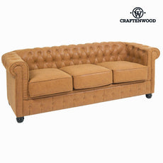 3 Seater Chesterfield Sofa Polyskin - Love Sixty Collection by Craftenwood