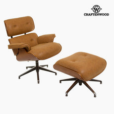 Retro armchair with footrest by Craftenwood