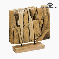 Sculpture Wood (40 x 12 x 40 cm) by Craftenwood