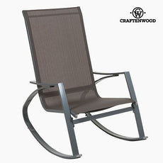 Rocking Chair Aluminium Grey - Art & Metal Collection by Craftenwood