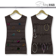 Shiny Hanger Black Dress Jewellery Organiser