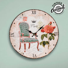 Vintage Coconut Period Chair Wall Clock