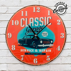 Vintage Coconut Classic Garage Wall Clock