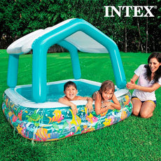 Home Inflatable Paddling Pool with UmbrellaInte Intex