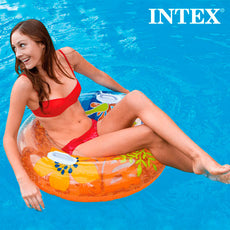 Summer Inflatable Rubber Ring with Handles Intex