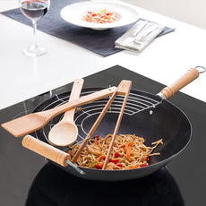 Wok Pan with Accessories (6 pieces)