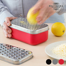 Bravissima Kitchen 2-in-1 Grater with Storage Container (4 pieces)