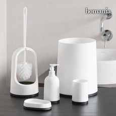 Black & White Homania Bathroom Accessories (5 pieces)