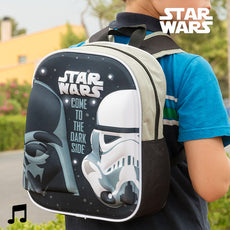 Star Wars 3D School Backpack with Light and Sound