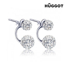 Hûggot Isabella 925 Sterling Silver Earrings with Zircons
