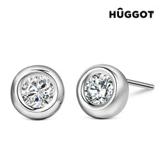 Hûggot Angie 925 Sterling Silver Earrings with Zircons