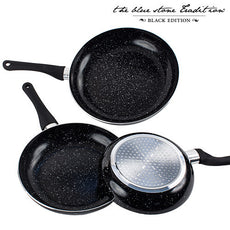 Black Stone Pan Stone Coated Pans (3 Pieces)