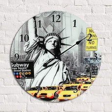 Cities of the World Glass Clock