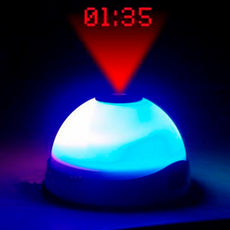 Alarm Clock with LED Light and Projector