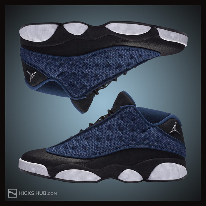 Jordan Men's Air 13 Retro Low, BRAVE BLUE/METALLIC SILVER